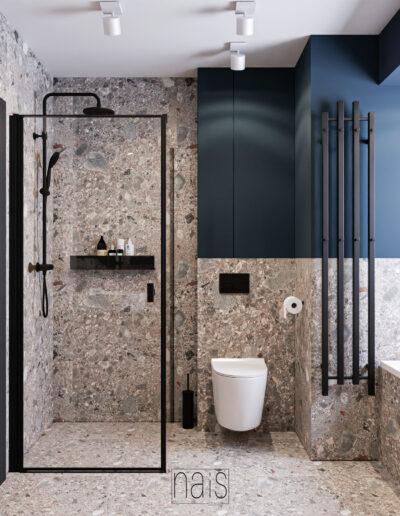 prysznic-90cm-granatowe-sciany-plytki-lastryko-czarne-dodatki