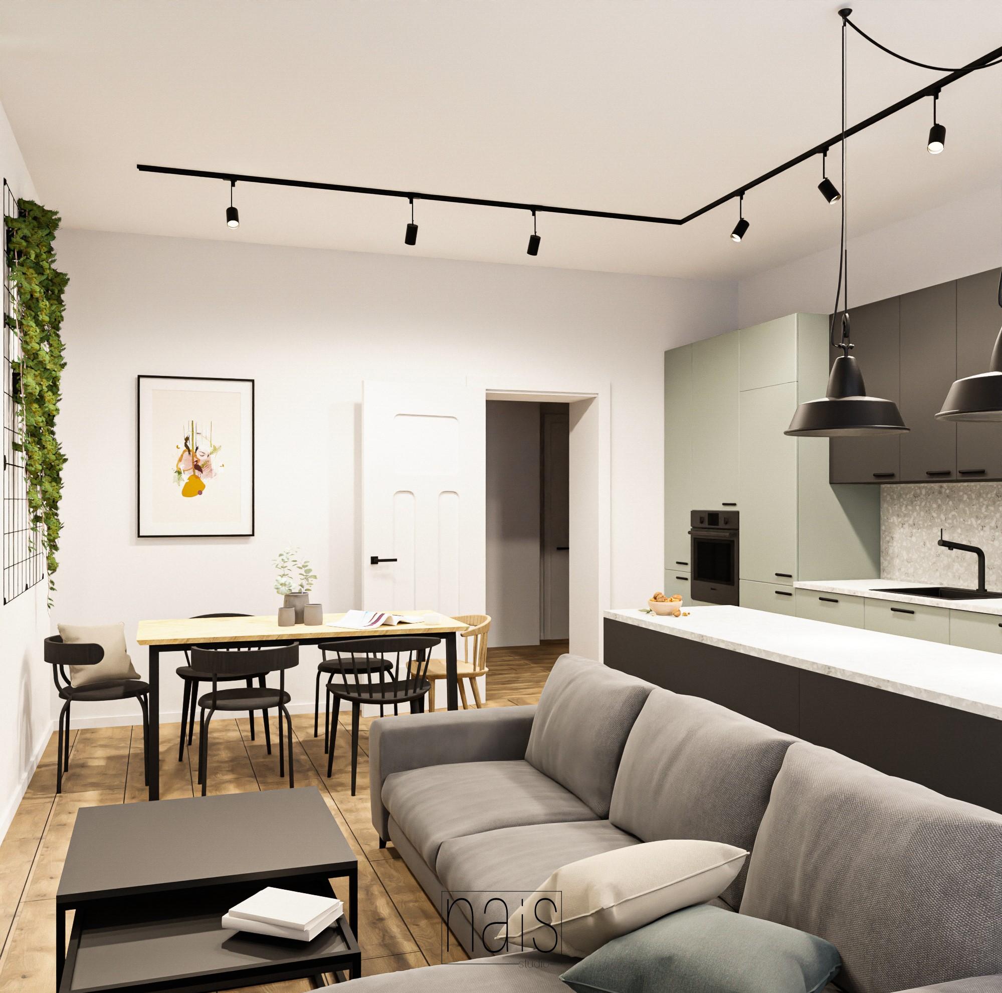 salon-polaczony-z-kuchnia-wysoka-zabudowa-duzy-stol-sofa-befame